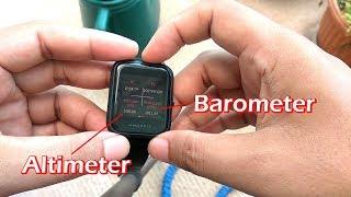 Як переглянути альтиметром, барометром і відкалібрувати компас в Amazfit Біп