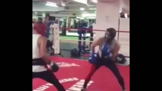 Conor McGregor Getting Beat Up By Boxer Chris Van Heerdan (Boxing Spar)
