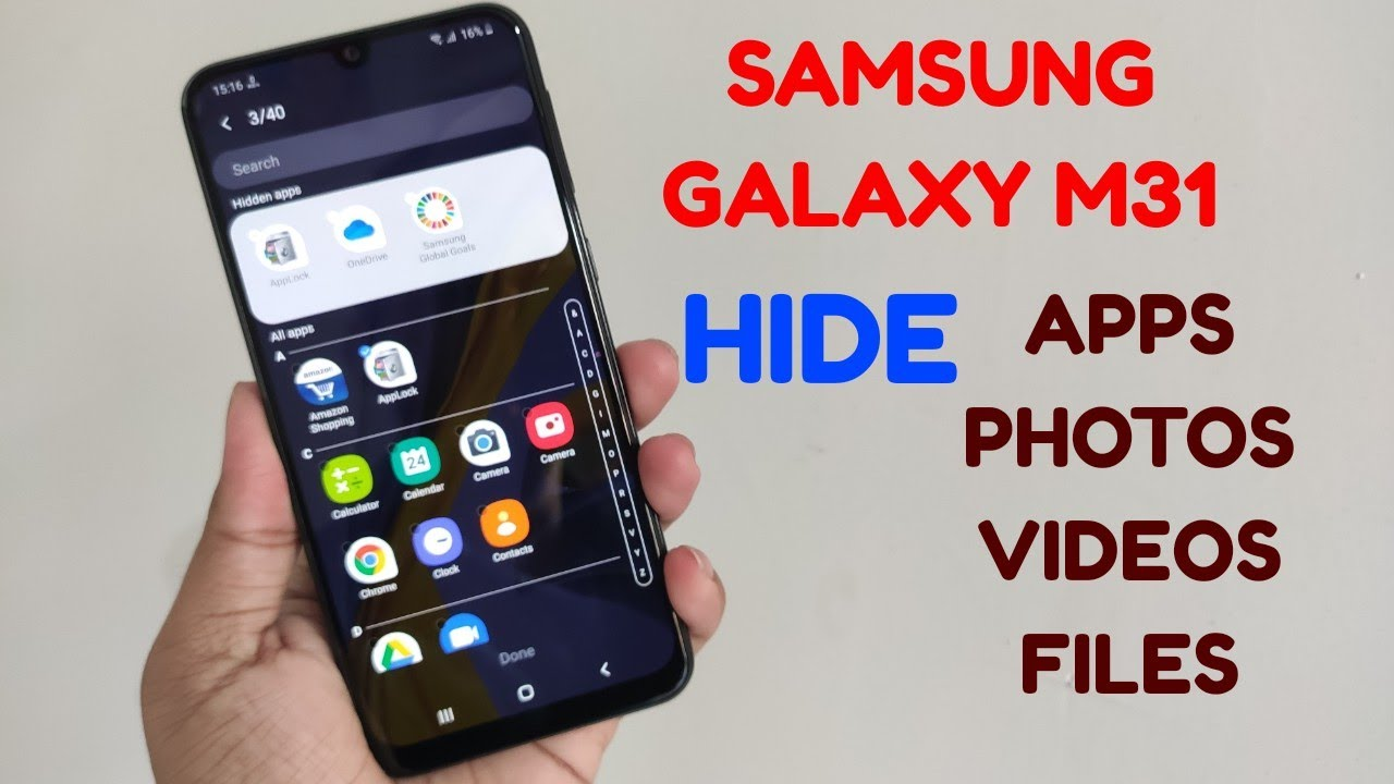 Samsung Galaxy M31 : Hide Apps, Photos, Videos, Files