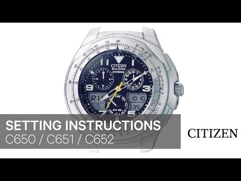cbdba6db7d2 OFFICIAL CITIZEN C650 C651 C652 Setting Instruction - YouTube