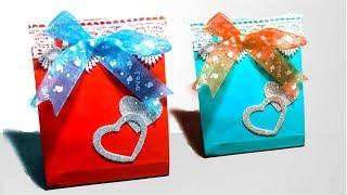 Valentine GIft Bag DIY | how to make a paper gift bag easy diy, valentine day| Tuber Tip