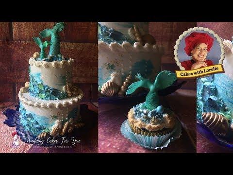 Mermaid Tail Cake Topper Tutorial /  Ocean Themed Cake