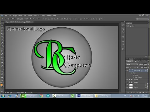 Logo Design Photoshop in Hindi tutorial thumbnail