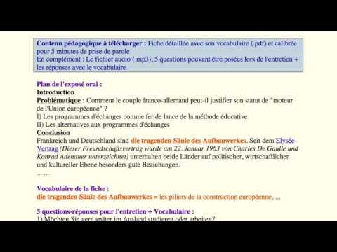 oral bac allemand espaces et echanges