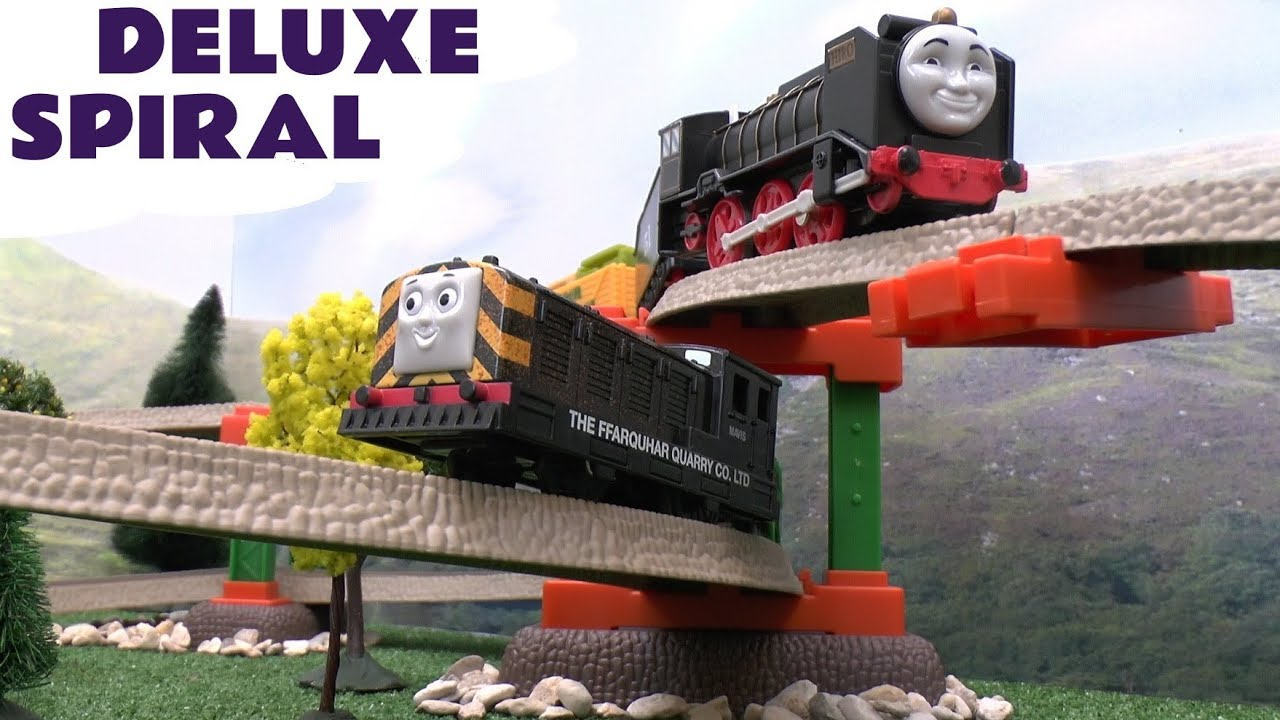 Thomas And Friends Trackmaster Deluxe Spiral Track Pack For Thomas Tank Toy Train Sets YouTube