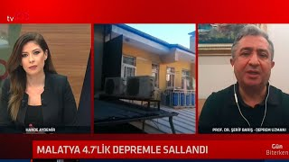Prof. Dr. Şerif Barış'an Malatya depremi açıklaması: Bir kaç ay daha bu tür depremler olacak