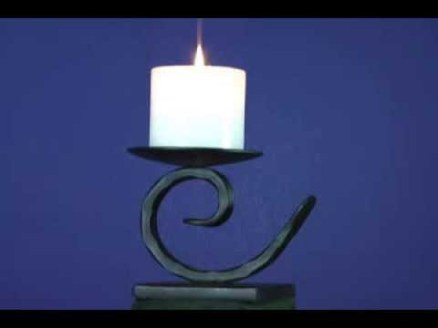 Candle Table Lamp - Forged Wrought Iron