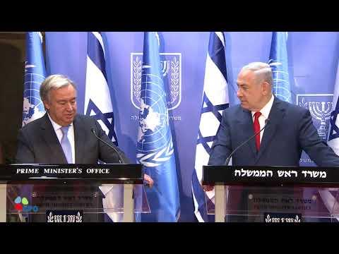 PM Netanyahu Meets UN Secretary-General António Guterres