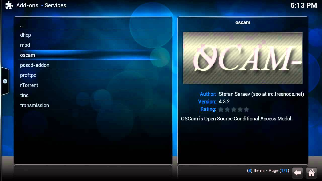 TUTORIAL] Live TV (tvheadend and oscam) at WeTek Play on OpenELEC