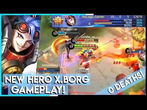 New Hero X.BORG Legendary Gameplay! 15-0-5 KDA!   Mobile Legends - Gameplay!   MLBB