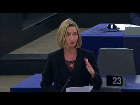 Mogherini addresses EP on progress of security and defence c