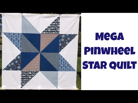 Mega Pinwheel Star Free Quilt Pattern and Beginner Quilting Tutorial with Leah Day