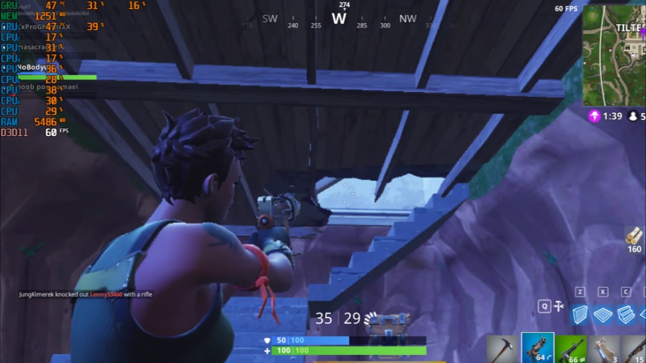 Fortnite Fps Test Low Price Game Pc Amd Ryzen 1500x Asus Nvidia