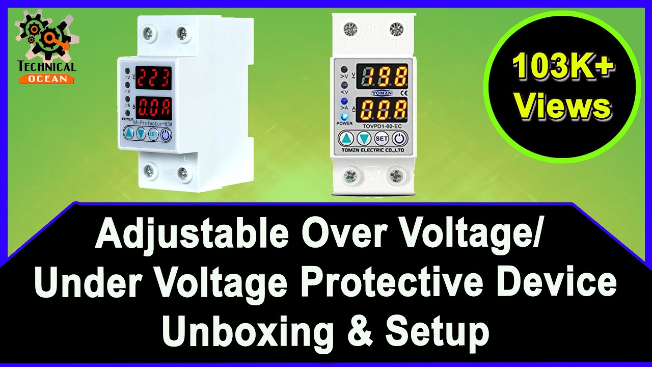 Over voltage and under voltage protective device protector relay with over  current protection