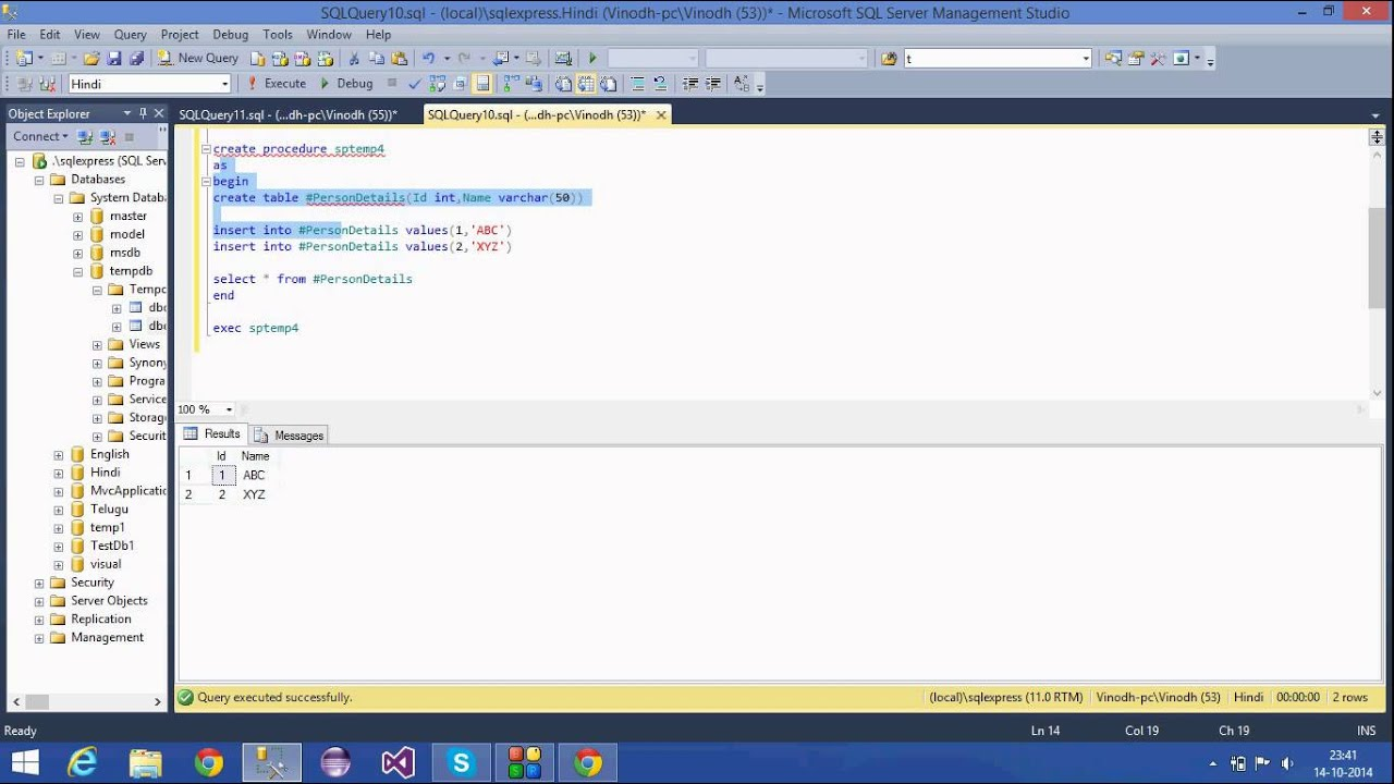 23sql server tutorial hinditemporary tables youtube sql server tutorial hinditemporary tables baditri Images
