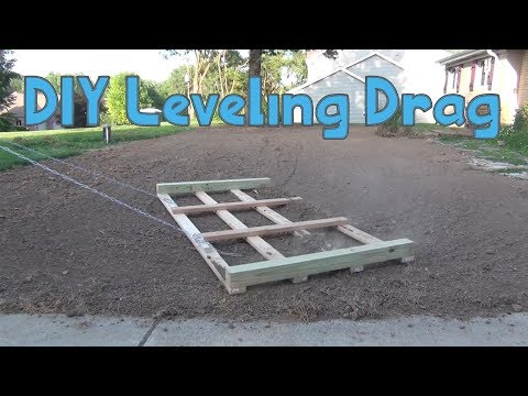 DIY Lawn Drag To Level The Lawn