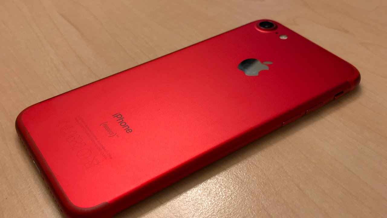 iphone 7 product red im hands on wir sehen rot 4k. Black Bedroom Furniture Sets. Home Design Ideas