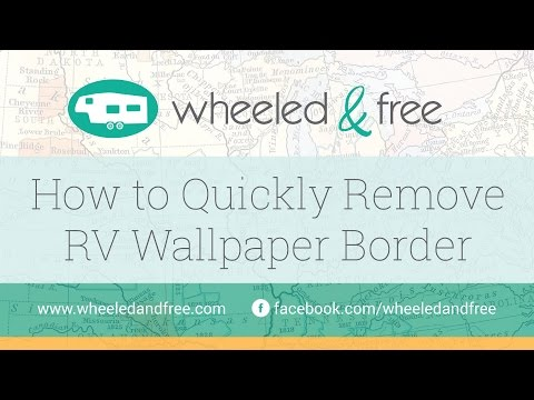 how to remove wallpaper border easily