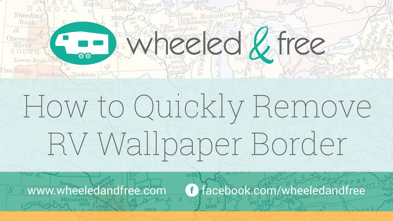 How To Remove RV Wallpaper Border - YouTube