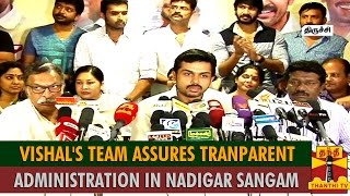 Vishal's Team Assures Of Transparent Administration in Nadigar Sangam spl hot tamil video news 09-10-2015