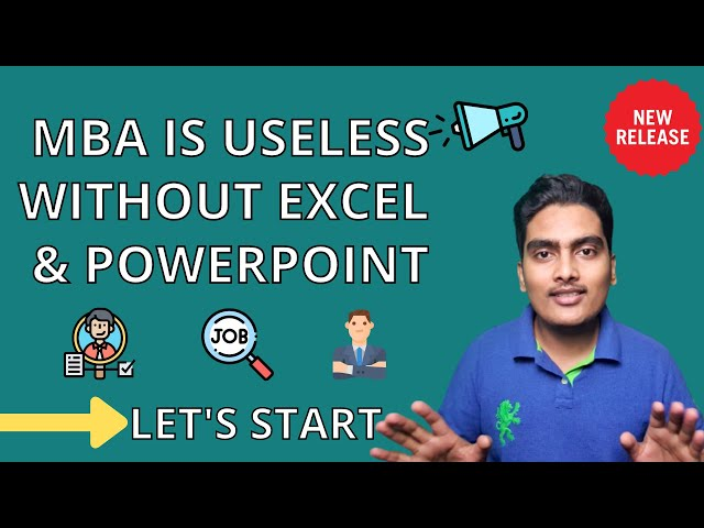 ⚡️Don't you ignore MS Excel and MS PowerPoint | MBA Profile Building