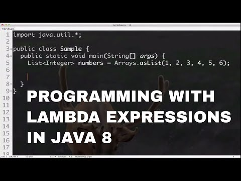 Programming with Lambda Expressions in Java