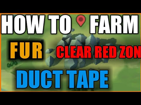 How to farm fur,bauxite,duct tape,iron ore+ clear red zone+ killing AI player| must watch|