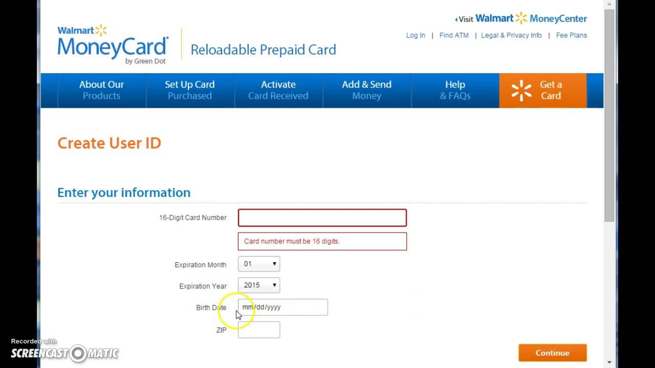 Walmart MoneyCard (Prepaid) Login | www.walmartmoneycard.com - YouTube