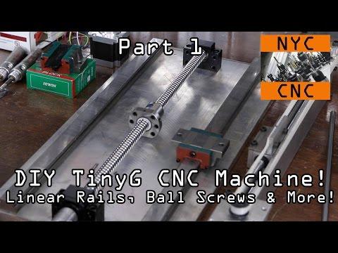 DIY CNC Machine: Linear Rails + TinyG Part 1!  Widget40