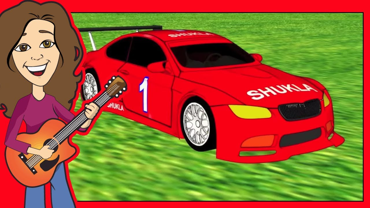 Vroom Goes The Red Race Car Children S Song R Sounds Patty Shukla