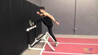 HURDLE DRILLS: Wall Drills Hurdle Lead Leg Left