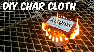 How to Make Char Cloth in Altoids Tin