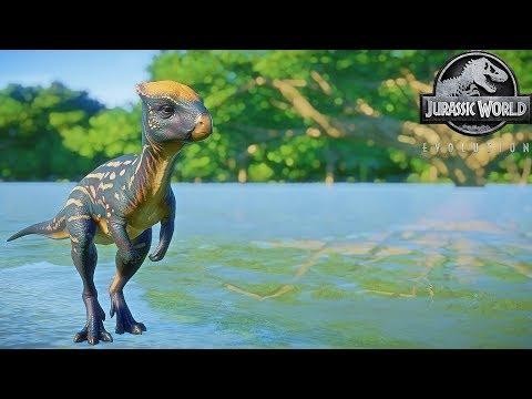 Jurassic World Evolution - New Herbivore Dinosaur Pack - Homalocephale - All Skins  