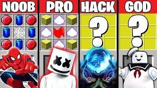 Minecraft Battle: SPIDERMAN FAR FROM HOME VS MARSHMELLO CRAFTING CHALLENGE ~ NOOB vs PRO – Animation