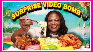 BBQ RIBS + CHICKEN + LOADED POTATOES MUKBANG | VIDEO BOMB @ULOVE CHANI @LLIPS  | EAT WITH ME