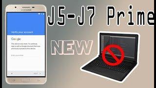 Galaxy J5/J7  Prime Remove Google Account Unlock Frp 2017 Patch