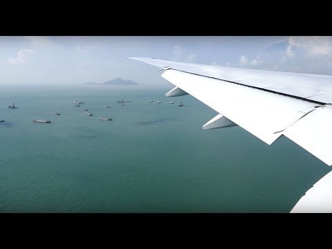 Boeing 777-300 flight from Taipei to Hong Kong