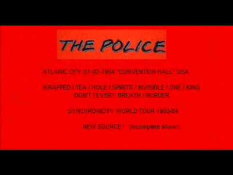 THE POLICE - Atlantic City, NJ 07-02-1984 Convention Center USA
