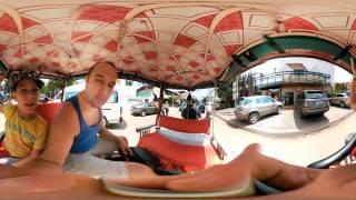 Едем на Тук-Туке в Храмы Камбоджи.Видео 360 градусов!(, 2016-12-05T19:17:26.000Z)