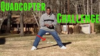 Fly a Quadcopter trick between legs challenge (Short edit) Latrax Alias