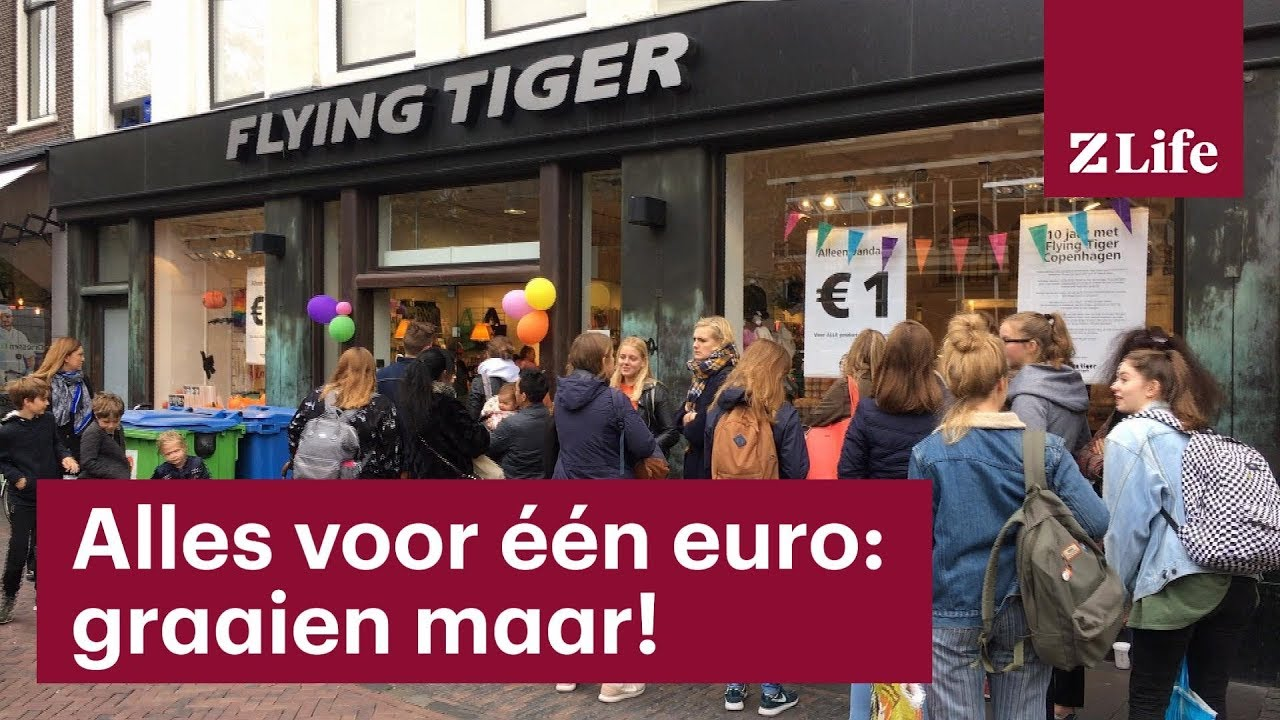 Lange Rijen Voor Flying Tiger Alles Voor één Euro Z Life Youtube