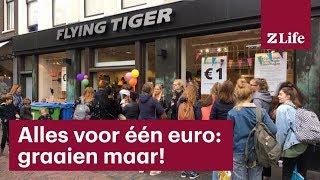 Lange rijen voor Flying Tiger: alles voor één euro • Z Life