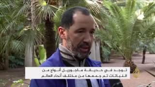 حديقة ماجوريل بمراكش المغربية تستهوي السياح