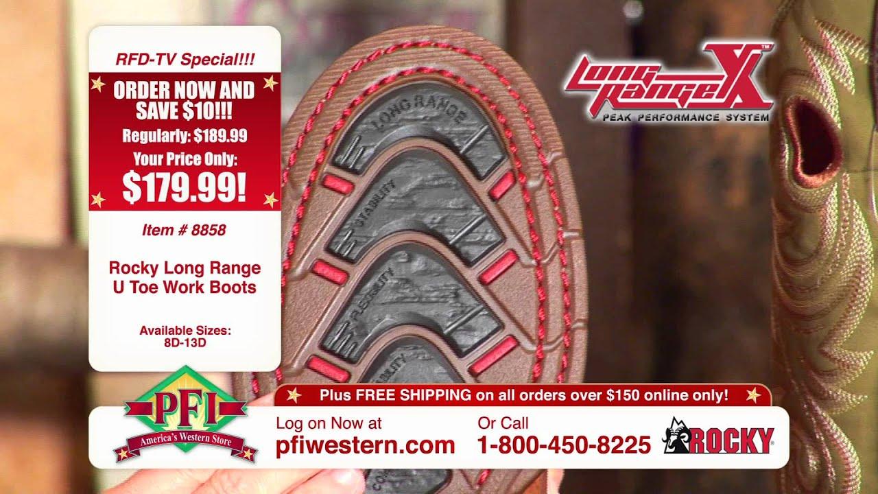 Rocky Long Range Work Boots - YouTube