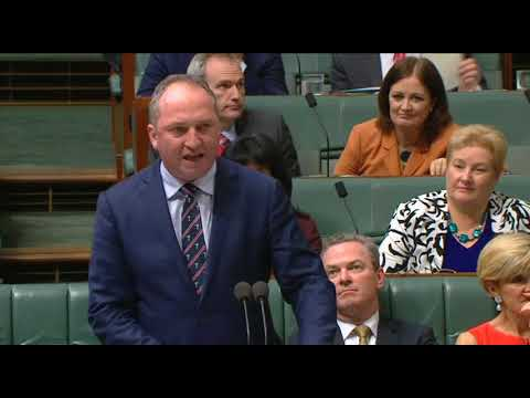 Barnaby Joyce Question Time on energy supply 17 October 2017