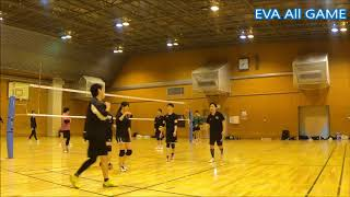【男女混合バレーボール】All#33-6 【END】EVA15点3ゲーム[Commentary]解説 Men and Women Mixed Volleyball JAPAN TOKYO