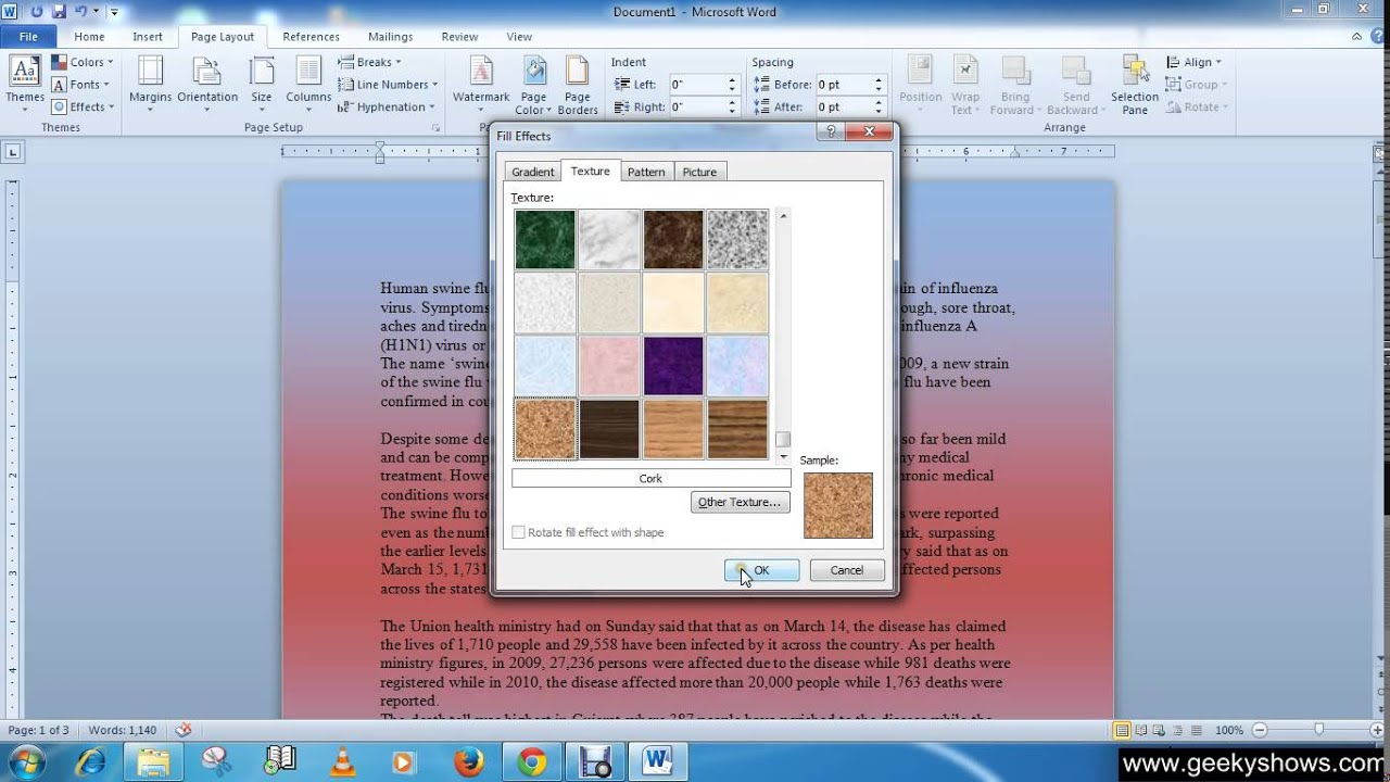 How To Change The Background Color In Microsoft Office