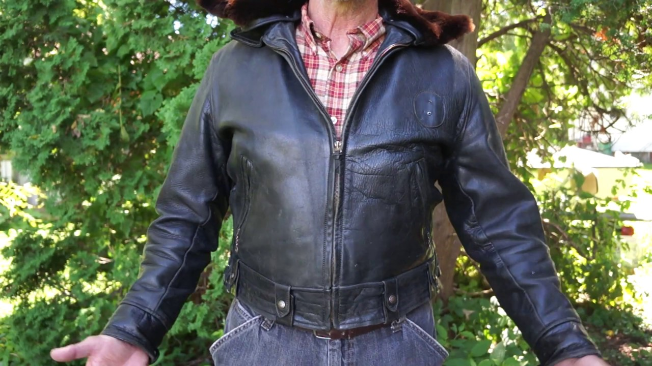 Vintage All Weather Horsehide Police Jacket Youtube