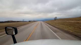 BigRigTravels LIVE! Belle Fourche to Mitchell, South Dakota Interstate 90 East-Nov. 3, 2018