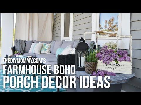 Farmhouse Boho DIY Porch Decor Ideas // Our 2016 Porch Tour